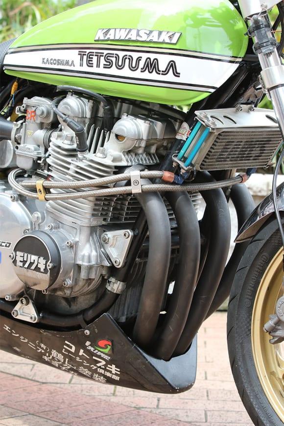 増留さんの愛車 1976年式Z1000 エンジン