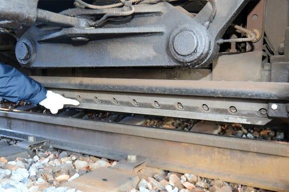 碓氷峠鉄道文化むら 電磁吸着ブレーキ