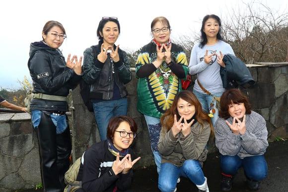 第20回 メグロ・W1〜3・W650・W800・W400 岩間ジョイントミーティング 女性のWオーナー&参加者たち