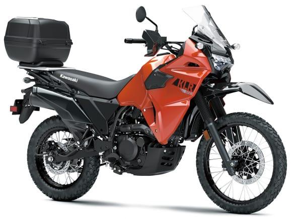 2022年モデル KLR650 TRAVELER パールラバオレンジ