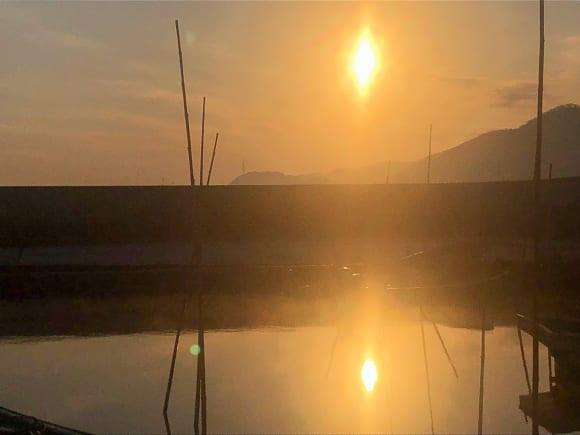 児島湾の夕日