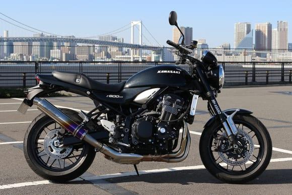 MH ASANO Z900RS/CAFE用スリップオンマフラー ゴールドグラデーション