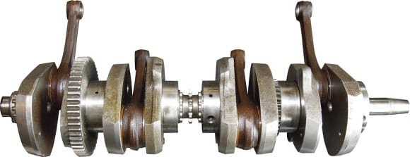 軸受けにローラーベアリングを採用したZ1の組み立て式クランク