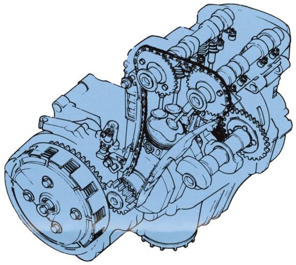 GPZ250Rエンジン