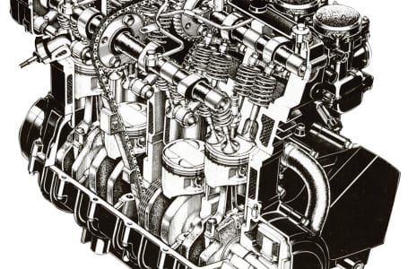 カワサキ初の400㏄水冷4スト並列4気筒 〜1985 GPZ400R〜 エンジン