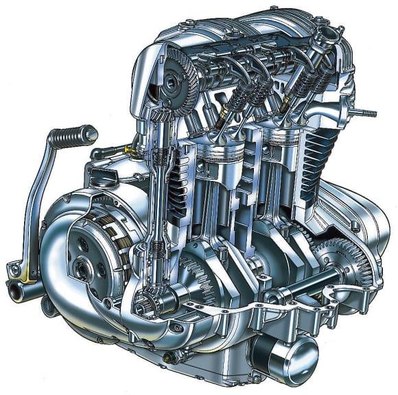 今に続くバーチカルツイン 〜1999 W650〜 エンジン