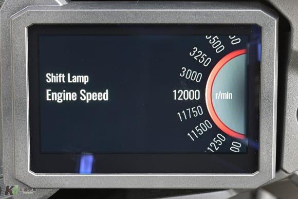 カワサキ フルカラーTFT液晶スクリーン セッティング画面