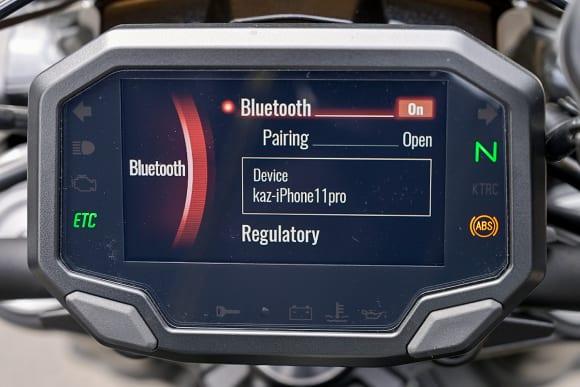 カワサキ車のスマートフォン接続機能を検証 Bluetooth