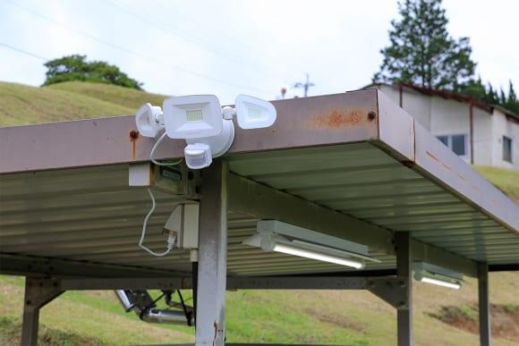 SPA直入のキャンプ場 蛍光灯とLED