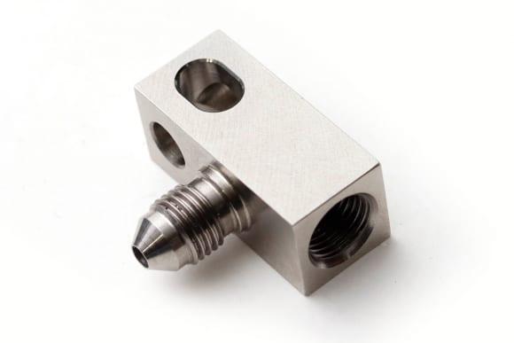 アクティブ ABSブレーキホース用フィッティングパーツ フレアロックアダプター90°