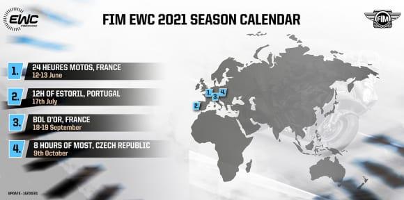 FIM EWC 2021 SEASON CALENDAR