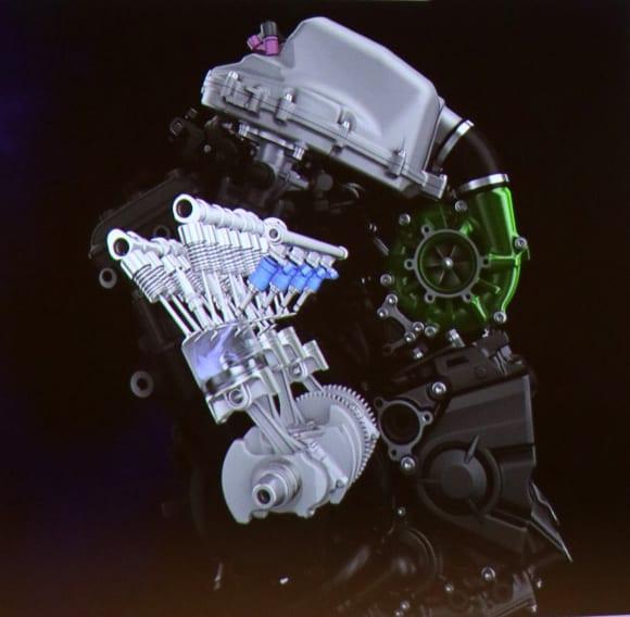 EVと水素エンジンへのカワサキの挑戦 水素エンジンのCG
